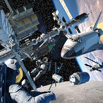 Peter Bollinger is an award winning illustrator, book illustrator, commercial artist, and digital artist who creates 3D illustrations of shuttle