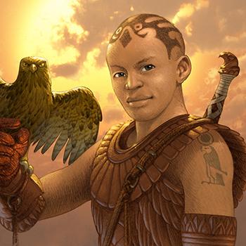 ANTONIO JAVIER CAPARO is an illustrator who create this illustration of  an eagle