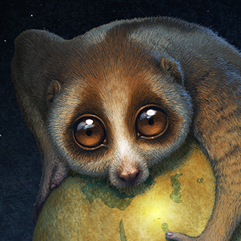 ANTONIO JAVIER CAPARO is an illustrator who create this illustration of racoon