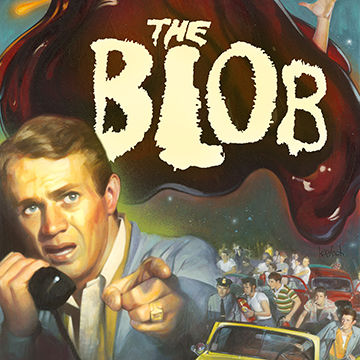 Michael Koelsch is an award winning illustrator, graphic designer, commercial artist, and digital artist whose created this retro poster art of  blob