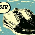 Stylized, retro poster for new sneakers
